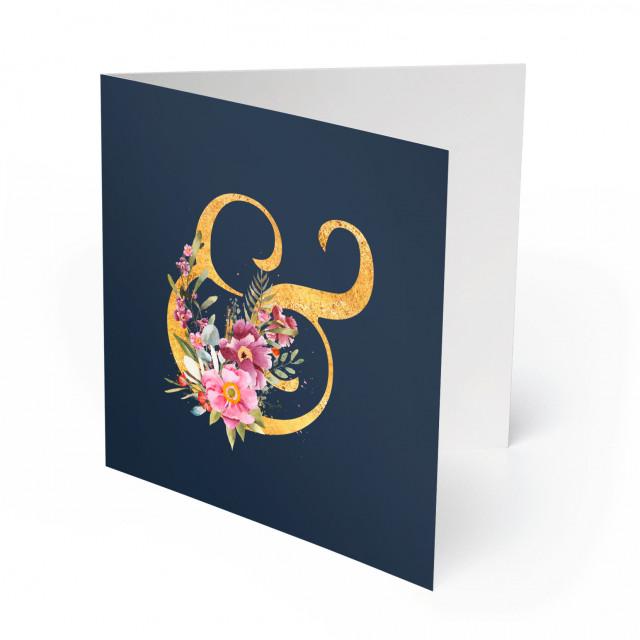Einladungskarten Goldene Hochzeit - Blumen