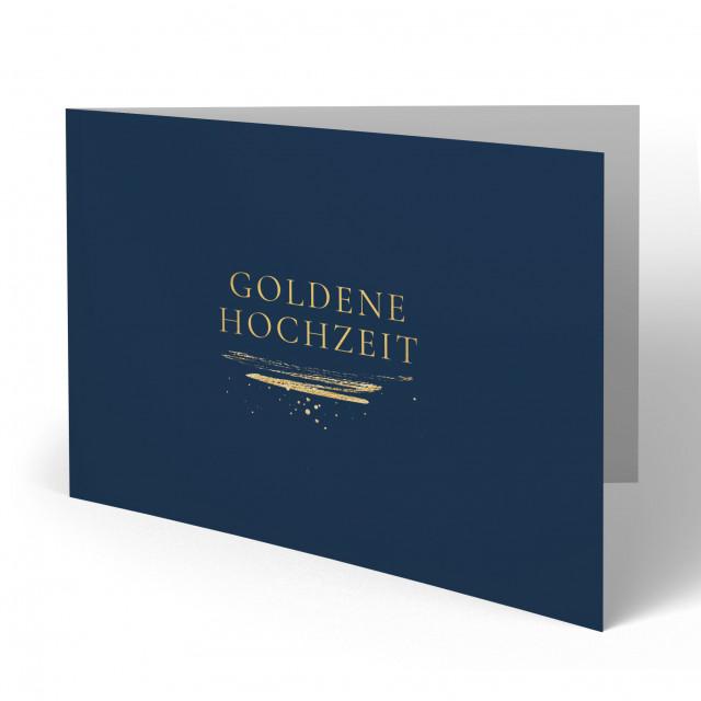 Einladungskarten Goldene Hochzeit - Goldstreifen