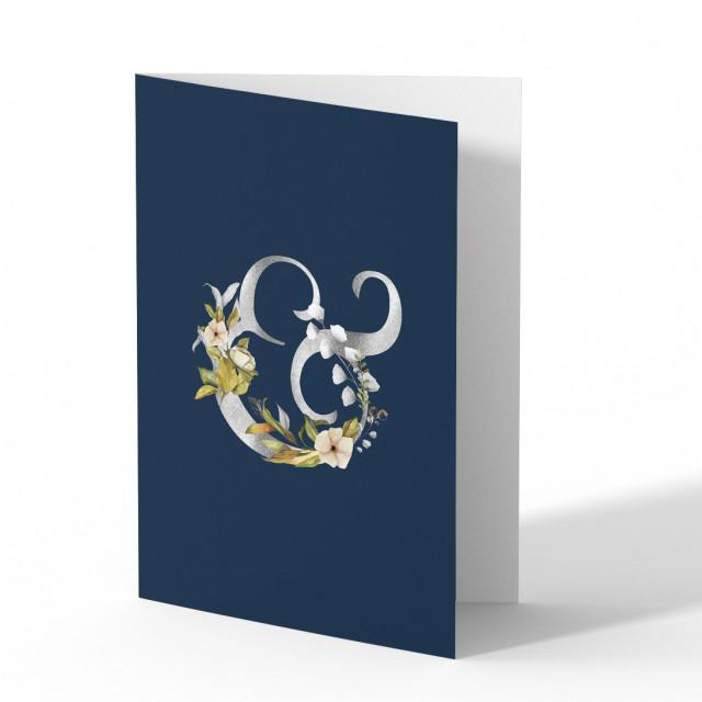 Hochzeitseinladungen Silberne Hochzeit - Blumen
