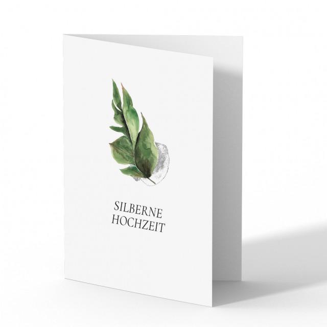Hochzeitseinladungen Silberne Hochzeit - Wasserfarbe