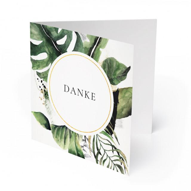 Hochzeit Dankeskarten - Goldblatt
