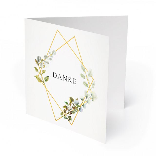 Hochzeit Dankeskarten - Goldene Raute