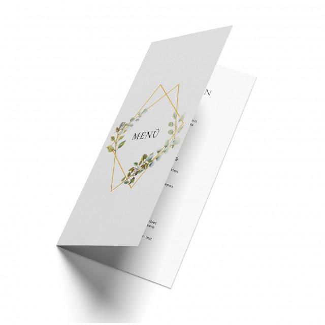 Hochzeit Menükarten - Goldene Raute