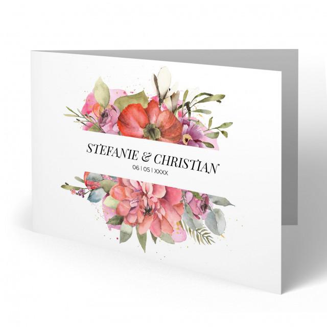 Einladungen zur Hochzeit - Bouquet