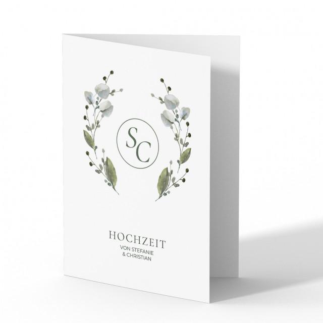 Einladungen zur Hochzeit - Blumen