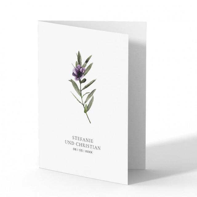 Einladungen zur Hochzeit - Blume