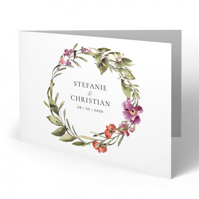 Einladungen zur Hochzeit - Blumenkranz