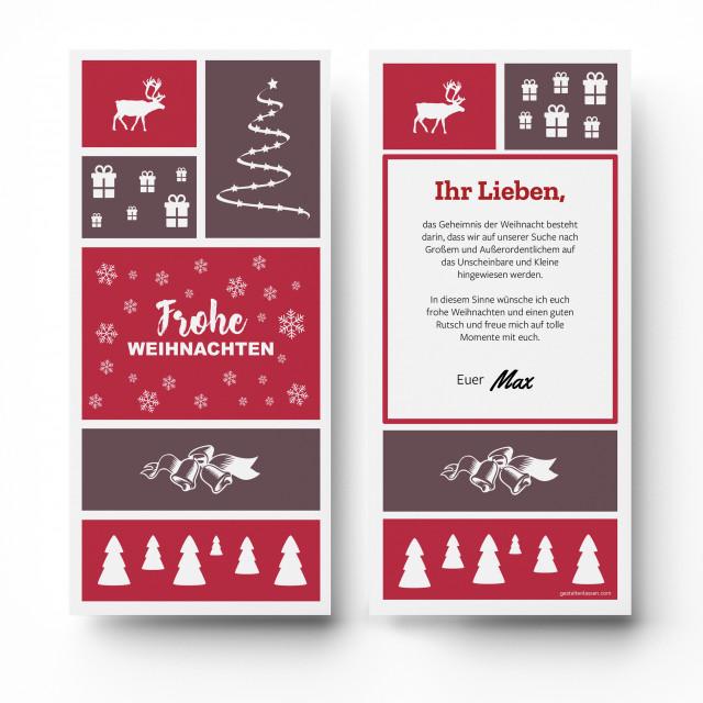 Weihnachtskarten - Frohe Weihnachten