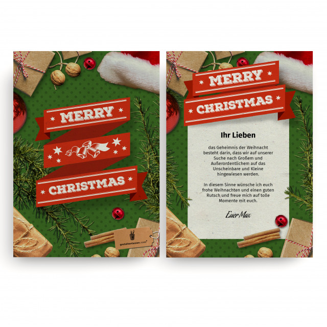Weihnachtskarten - Merry Christmas
