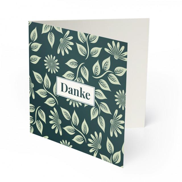 Hochzeit Dankeskarten - Blumenornamente