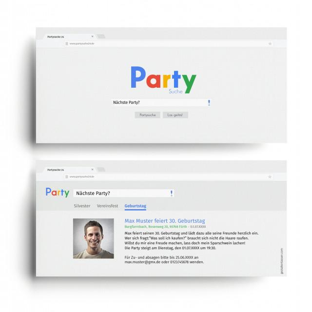 Geburtstagskarten - Partysuche