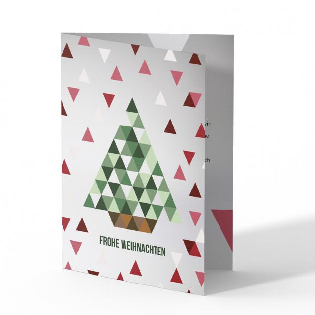 Weihnachtskarten - Dreiecke Weihnachtsbaum