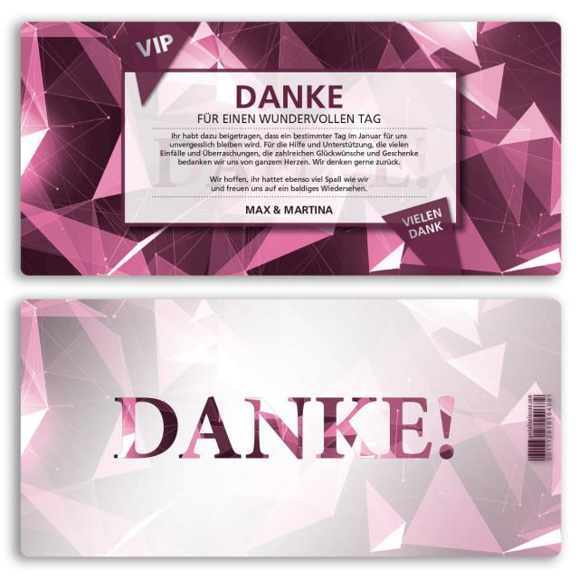 Danksagungskarten - VIP Pink