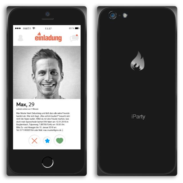 Einladungen als Smartphone