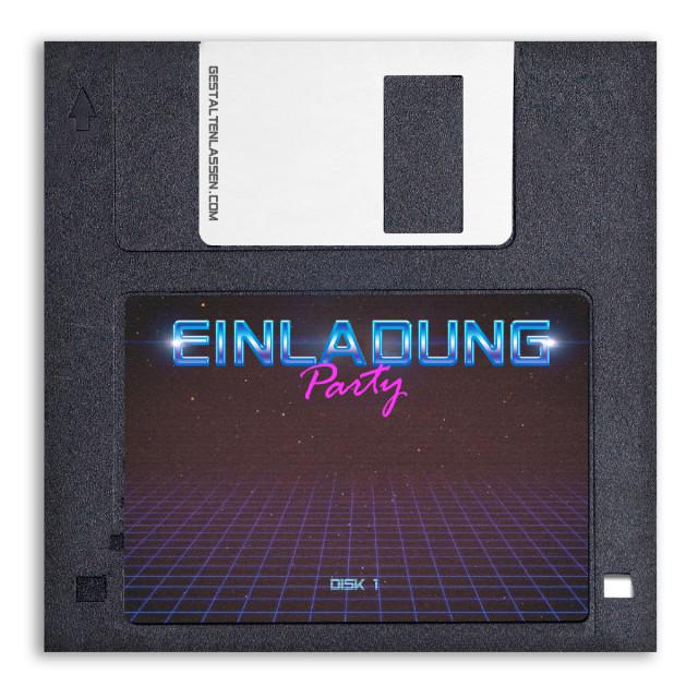 Einladungskarten als Diskette