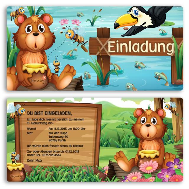 Einladungskarten - Bär