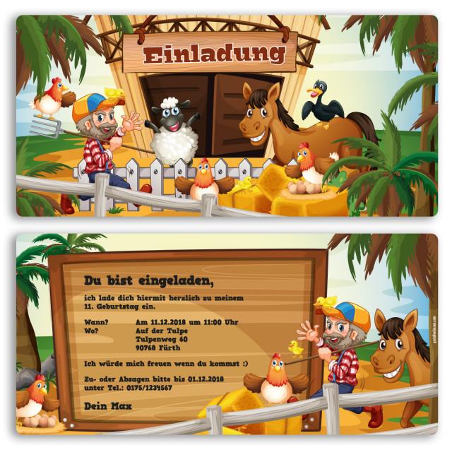 Einladungskarten - Bauernhof