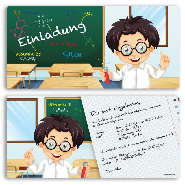 Einladungskarten - Schule