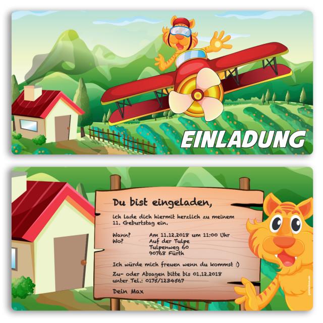 Einladungskarten - Tiger