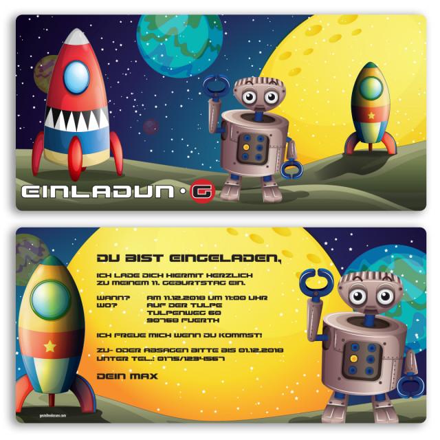 Einladungskarten - Weltraum