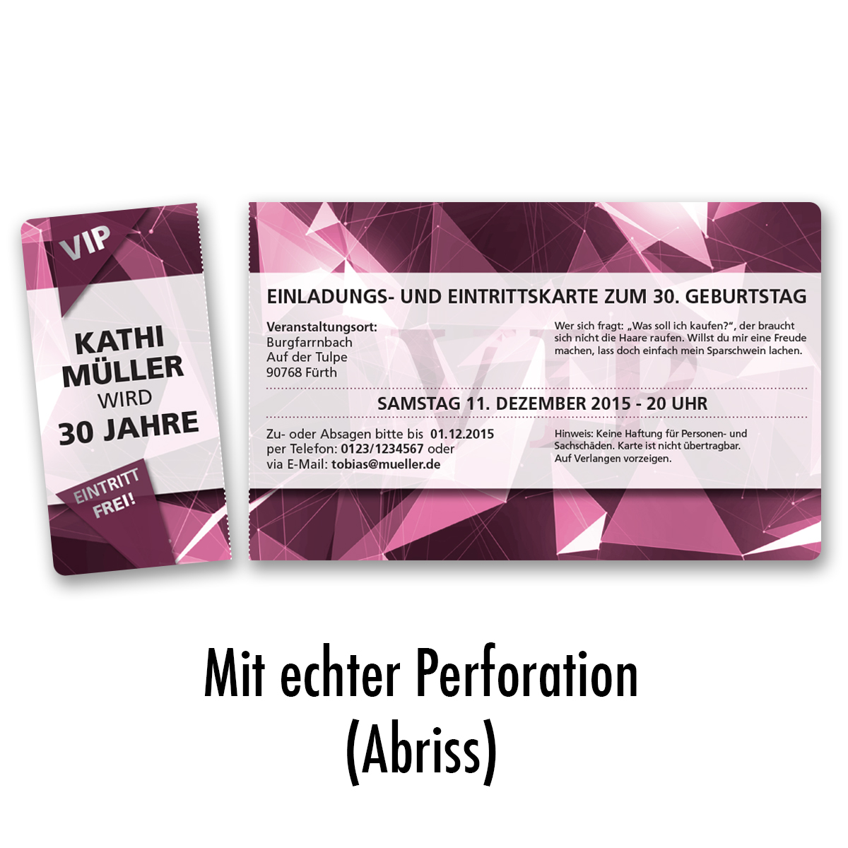 einladungskarten zum geburtstag vip karte ticket einladung edel | ebay, Einladungsentwurf