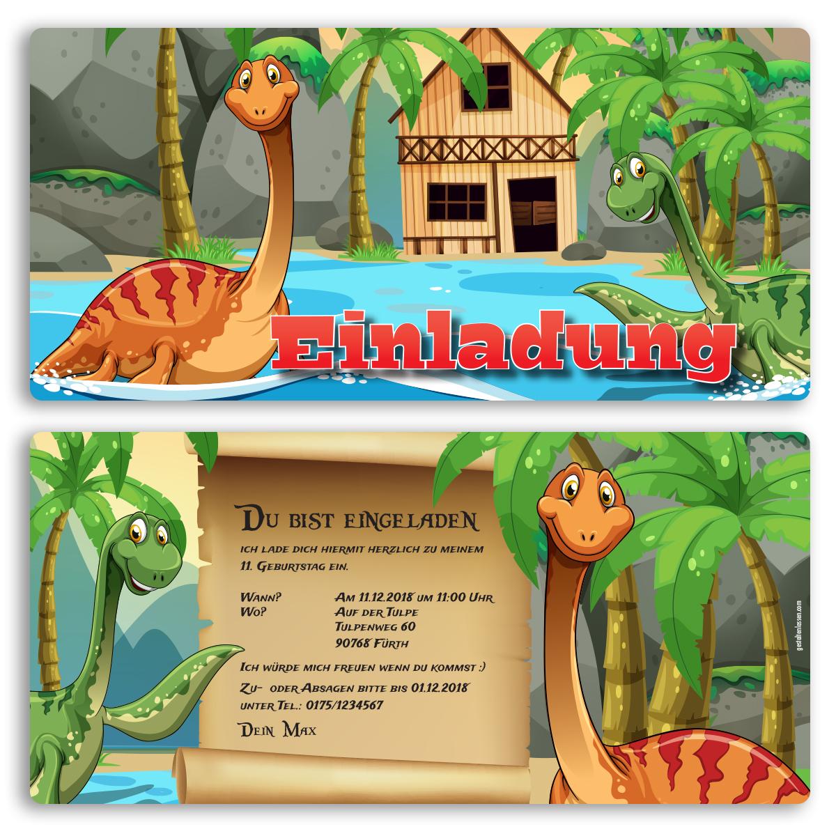 Dino Einladung – thegirlsroom