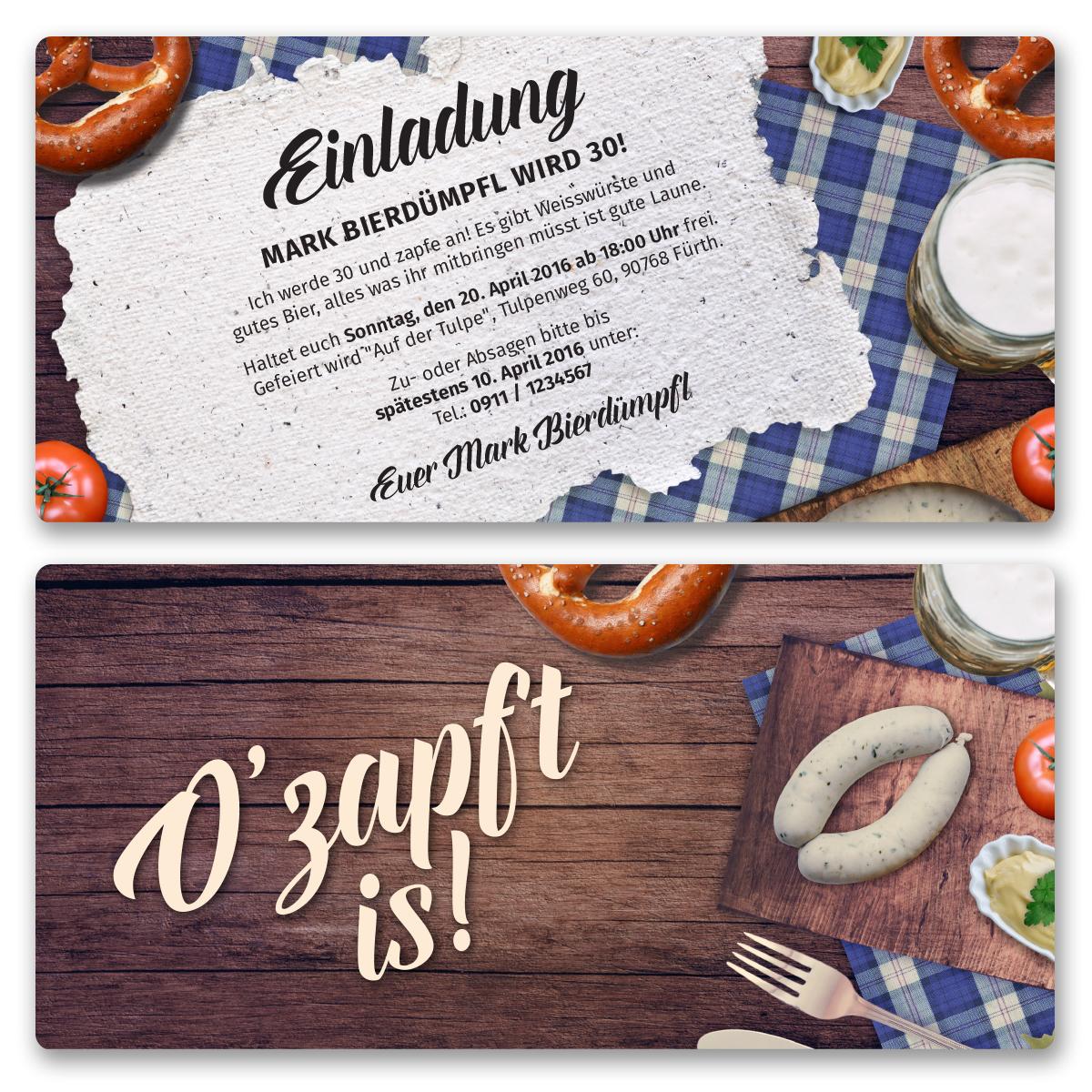 einladungskarten zum oktoberfest ab 55 cent / einladung, Einladung