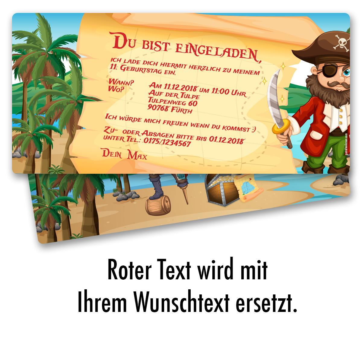 Schön Einladung Zum Geburtstag Pirat Schatzkarte Einladungskarten Kindergeburtstag