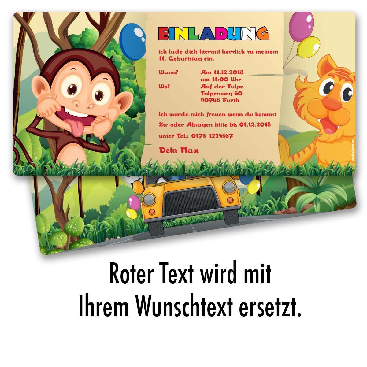 Einladung Zum Geburtstag Zoo Tiere Karte Einladungskarten Kindergeburtstag