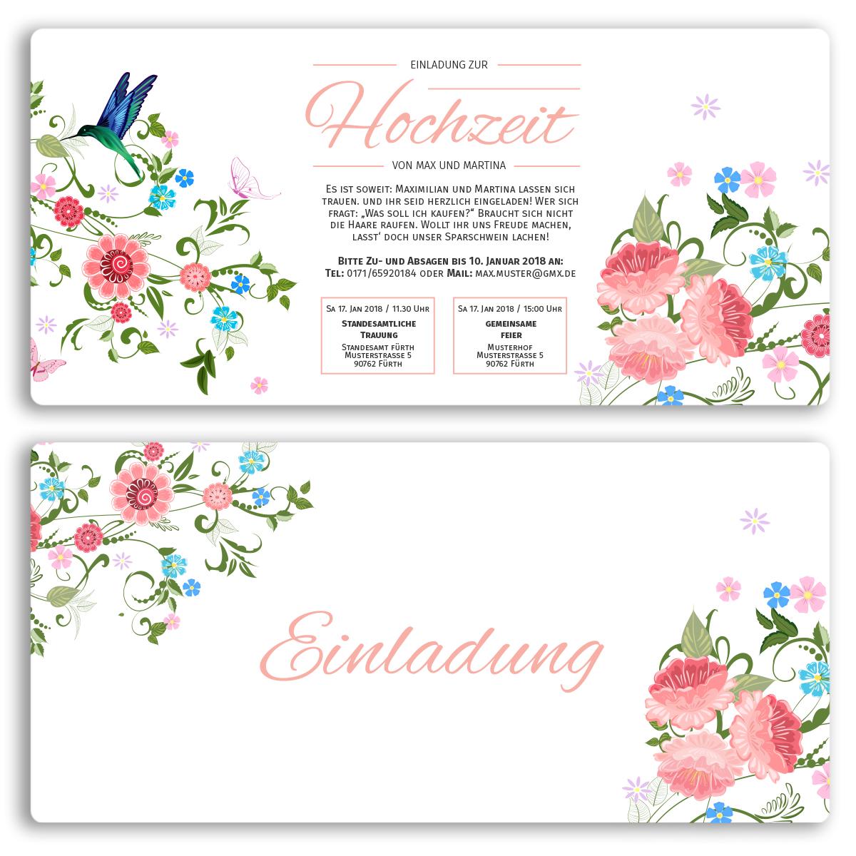 Einladungskarten Zur Hochzeit Als Eintrittskarte Ticket Einladung